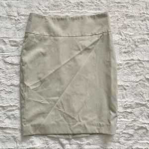 The Limited Khaki Pencil Skirt